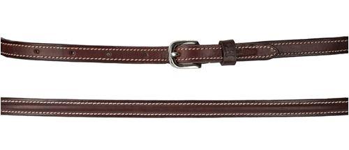 Harmohn Kraft Plain Raised Belt 1/2in - Brown