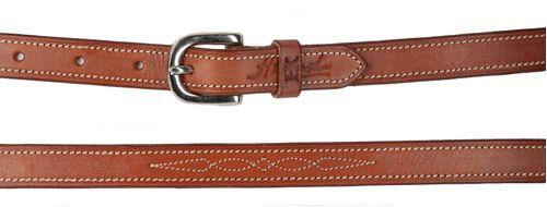 Harmohn Kraft Fancy Stitched 3/4in Flat Belt - Newmarket