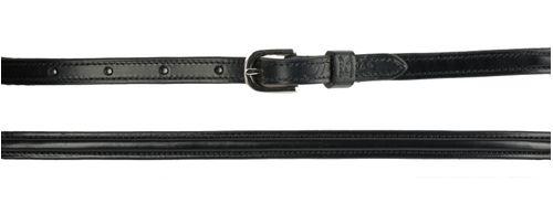 Harmohn Kraft Plain Raised Belt 1/2in - Black