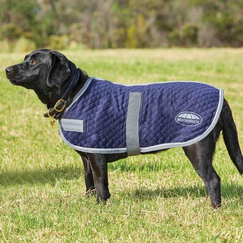 Weatherbeeta Thermic Dog Coat - Navy/Grey/White