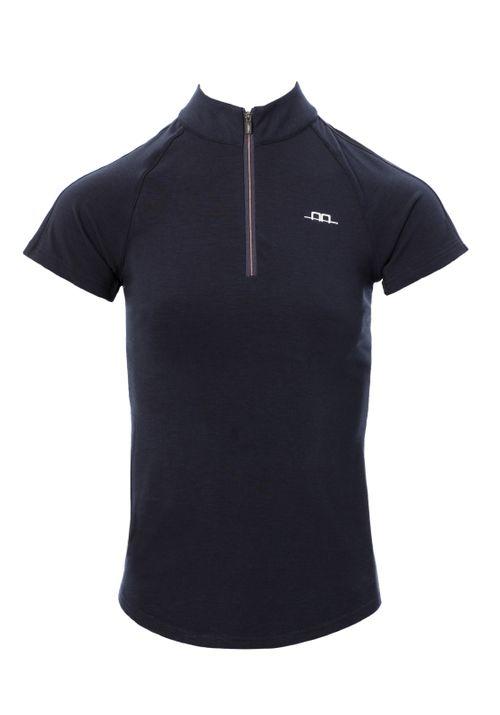 Horseware Women's CleanCool Half Zip Short Sleeve Top - Navy