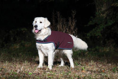 Rambo Waterproof Fleece Dog Rug - Burgundy/Burgund/Teal/Navy