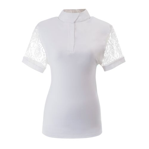 Ovation Women's Elegance Lace Show Shirt - White