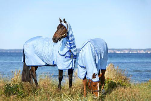 Amigo Pony Ripstop Hoody - Azure Blue/Strong Blue/Silver