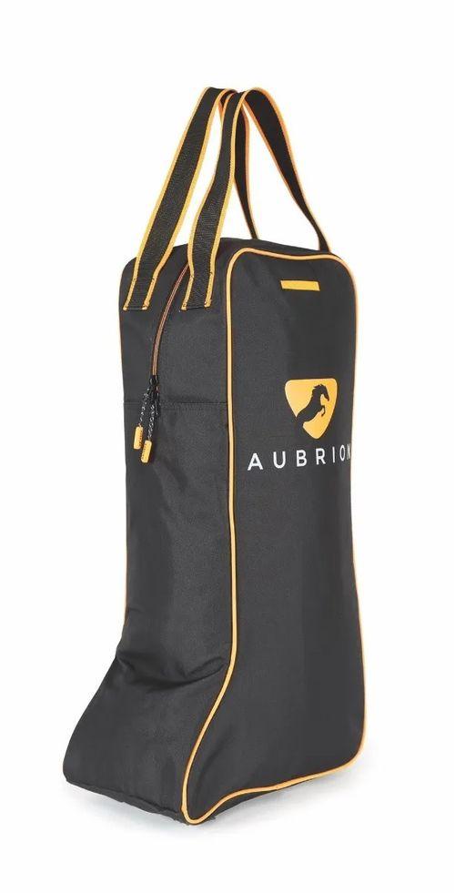 Aubrion Tall Boot Bag - Black/Orange