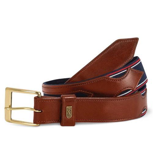 Tredstep Flex Belt - Chestnut/Classic Blue
