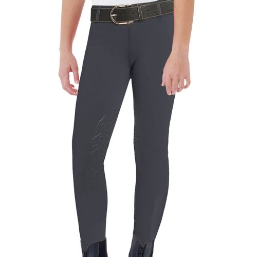 Ovation Kids' Aerowick GripTec Knee Patch Tight - Charcoal