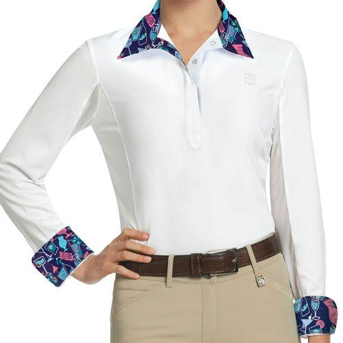 Romfh Women's Lindsay Long Sleeve Show Shirt - White/Tiki Bar