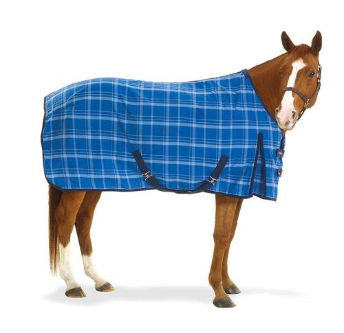 Equi-Essentials Pony EZE-Care Stable Sheet - Blue Plaid