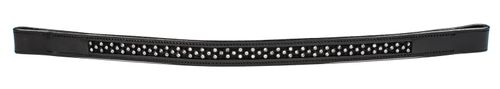 Harmohn Kraft Domino Crystal Browband 3/4in - Black