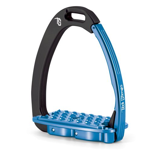 Tech Stirrups Venice EVO Stirrup Irons - Black/Blue