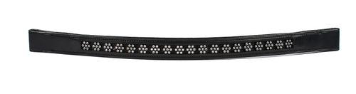 Harmohn Kraft Flower Crystal Browband 1in - Black