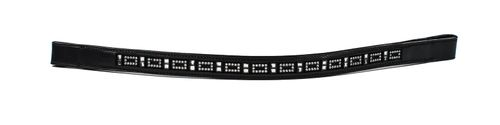 Harmohn Kraft Mini Square Crystal Browband 3/4in - Black