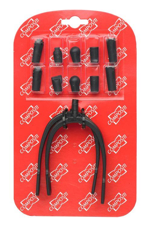 Compositi Interchangeable Hot Spurs - Black