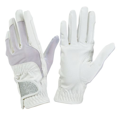 Ovation Women's Pro-Grip Glitter Show Gloves - White
