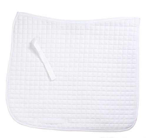 Ovation Pro Circuit Felt Dressage Pad - White