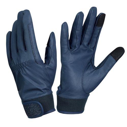 Ovation Women's LuxeGrip Glitter Gloves - Navy