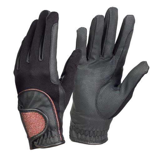 Ovation Women's Pro-Grip Gloves - Black/Rose Gold