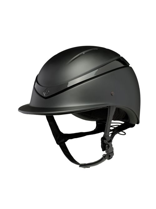 Charles Owen Luna Helmet - Black Matte/Black Gloss