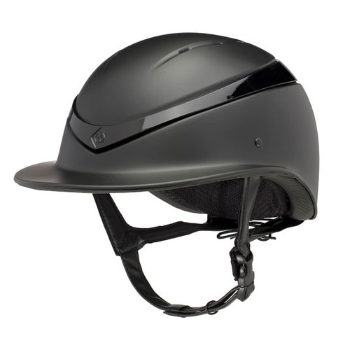 Charles Owen Luna Wide Peak Helmet - Black Matte/Black Gloss