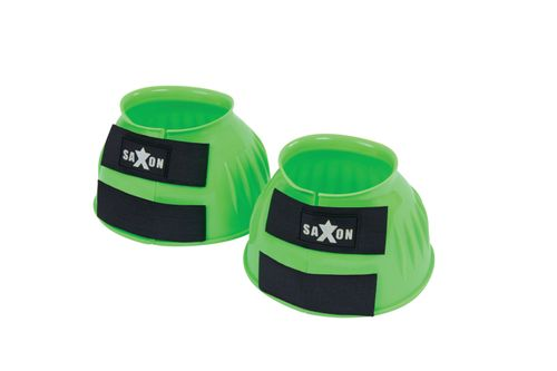 Saxon Double Tape PVC Ribbed Bell Boots - Lime Green