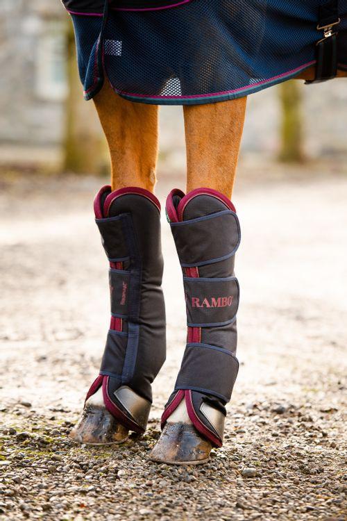 Rambo Travel Boots - Navy/Burgundy/Teal/Navy