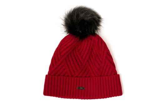 Alessandro Albanese Wool Pom-Pom Hat - Oxblood Red