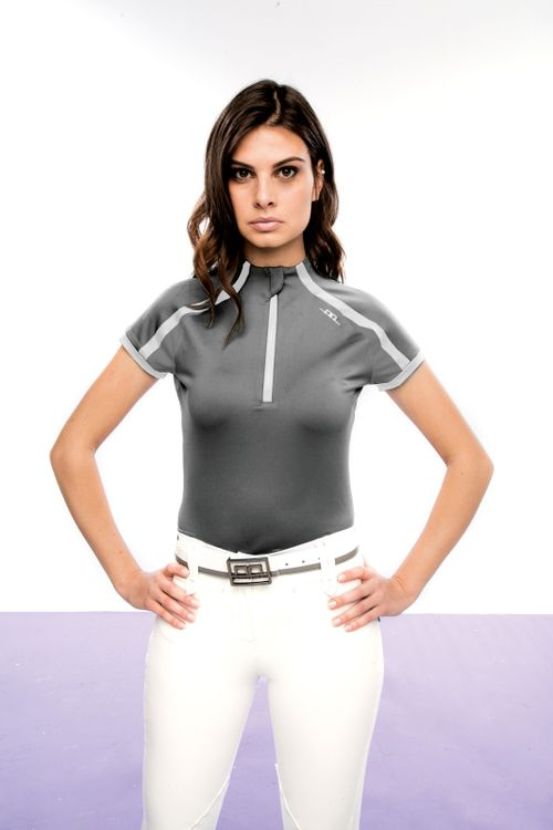 Alessandro Albanese Women's Pula Competition Short Sleeve Tech Top - Dark Grey