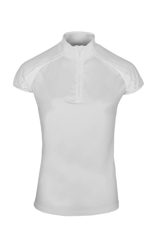 Alessandro Albanese Women's Pula Competition Short Sleeve Tech Top - White (((15652))) <<<en-US>>>