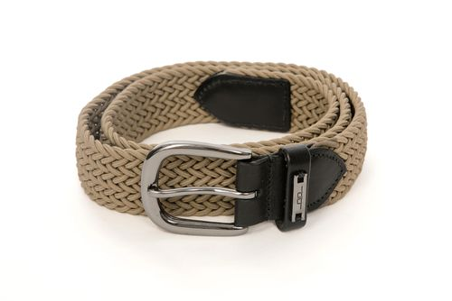 Alessandro Albanese Woven Belt - Taupe