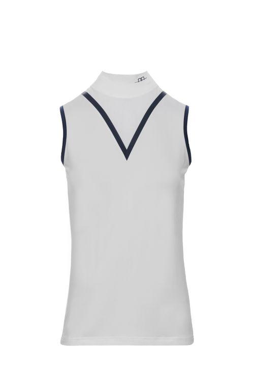 Alessandro Albanese Women's Mina Technical Sleeveless Top - White (((15662))) <<<en-US>>>
