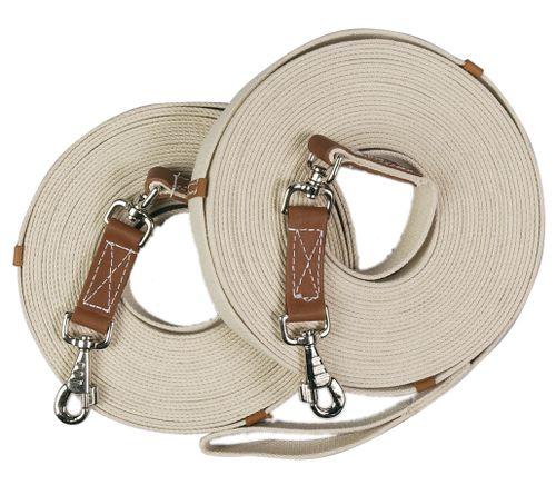 Centaur Cotton Web 50ft Lunge w/Loop - Natural