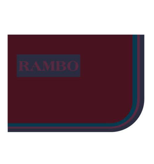 Rambo Stable Sheet - Burgundy/Burgundy/Teal/Navy
