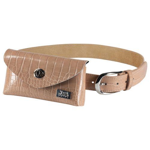 B Vertigo Women's Belt w/Removable Bag - Toasted Coconut