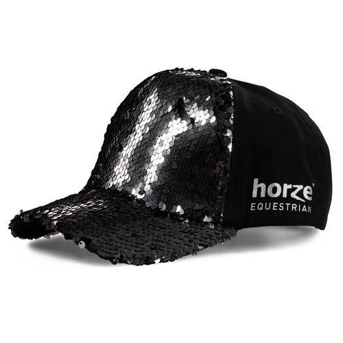 Horze Kids' Sequin Cap - Black