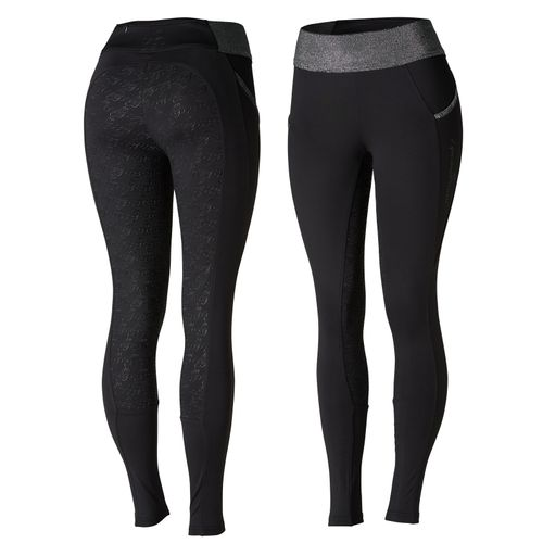 Horze Women's Radiance Silicone Full Seat Tights - Black
