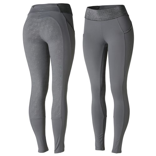 Horze Women's Radiance Silicone Full Seat Tights - Grey