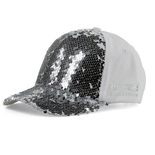 Horze Women's Sequin Cap - Silver/White