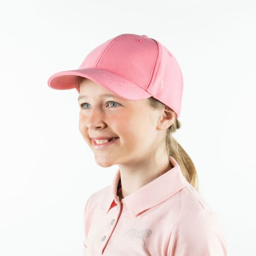 Horze Kids' Cap - Sunkissed Coral Pink