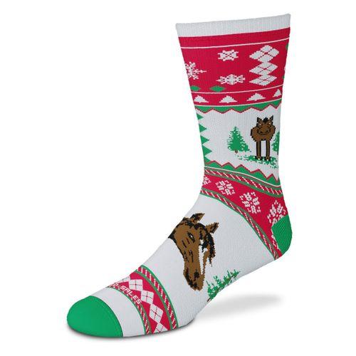 GT Reid Kids' Christmas Sweater Horses Socks - Multi