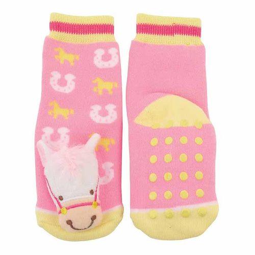 GT Reid Kids' Infant Socks w/ Horse Head - Pink