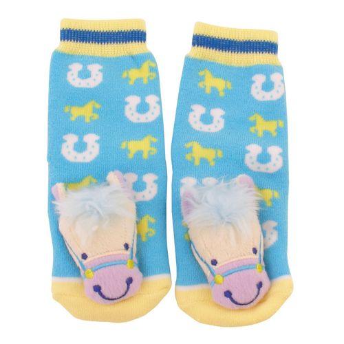 GT Reid Kids' Infant Socks w/ Horse Head - Blue