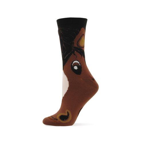 GT Reid Kids' Cartoon Horse Socks - Brown