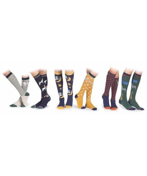 Shires Kids' Two Pack Bamboo Socks - Safari