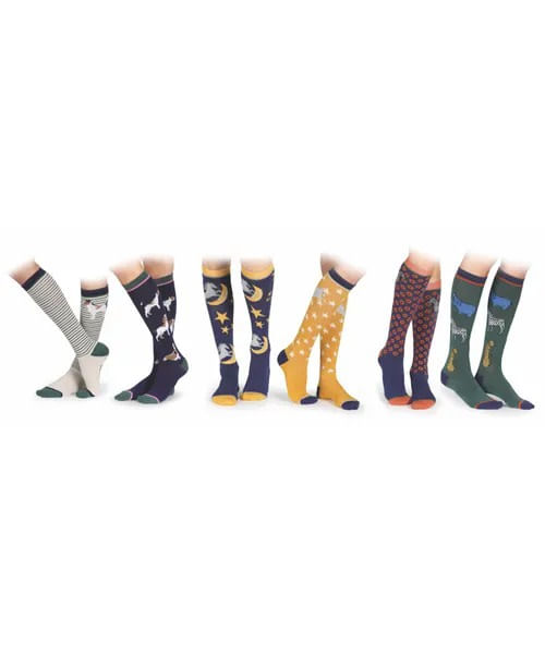Shires Kids' Two Pack Bamboo Socks - Dog