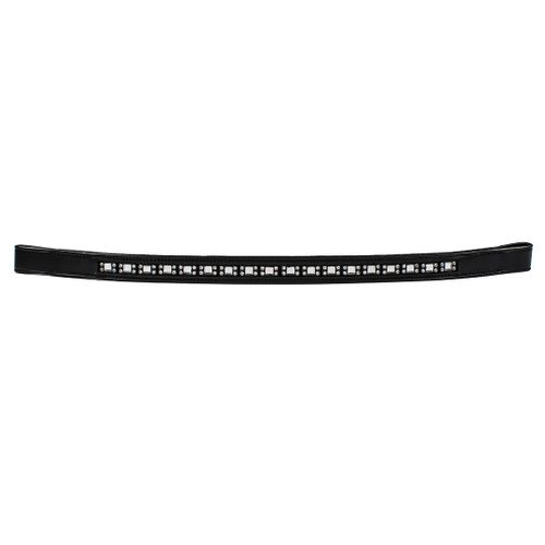 Harmohn Kraft Square and Round Crystal Browband 3/4in - Black