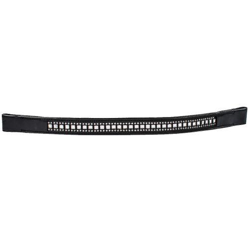 Harmohn Kraft Queen Crystal Browband 1in - Black