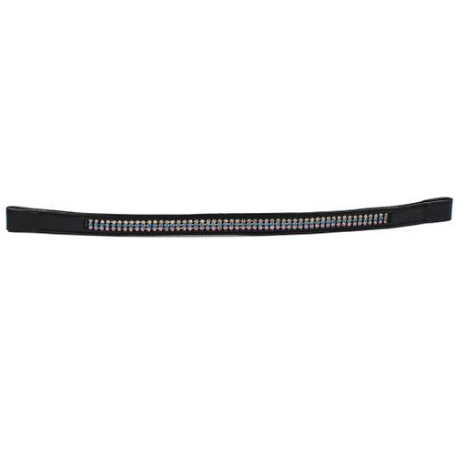 Harmohn Kraft Triple Row Crystal Browband 3/4in - Black