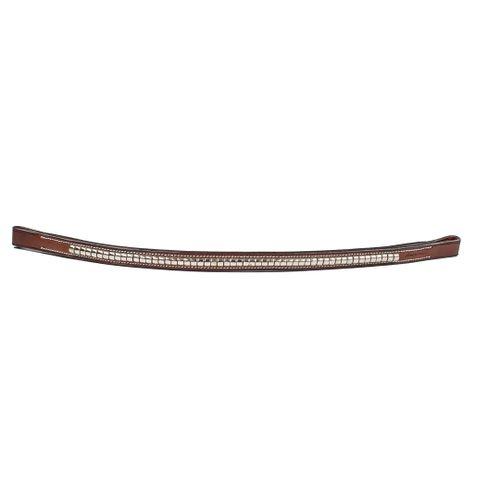 Harmohn Kraft Nickel Clincher Browband - Oakbark