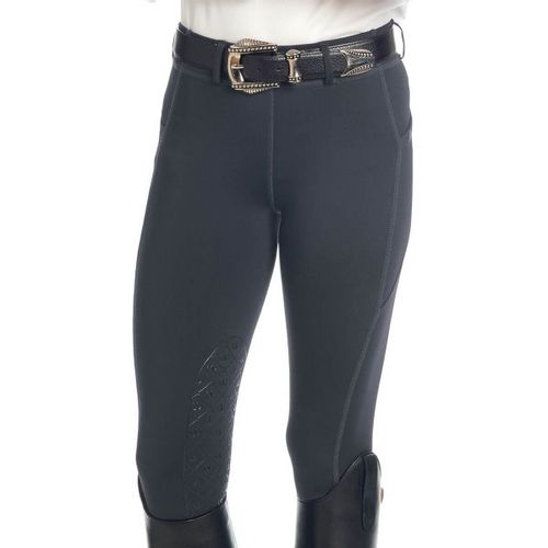 Ovation Women's Aerowick GripTec Knee Patch Tight - Charcoal